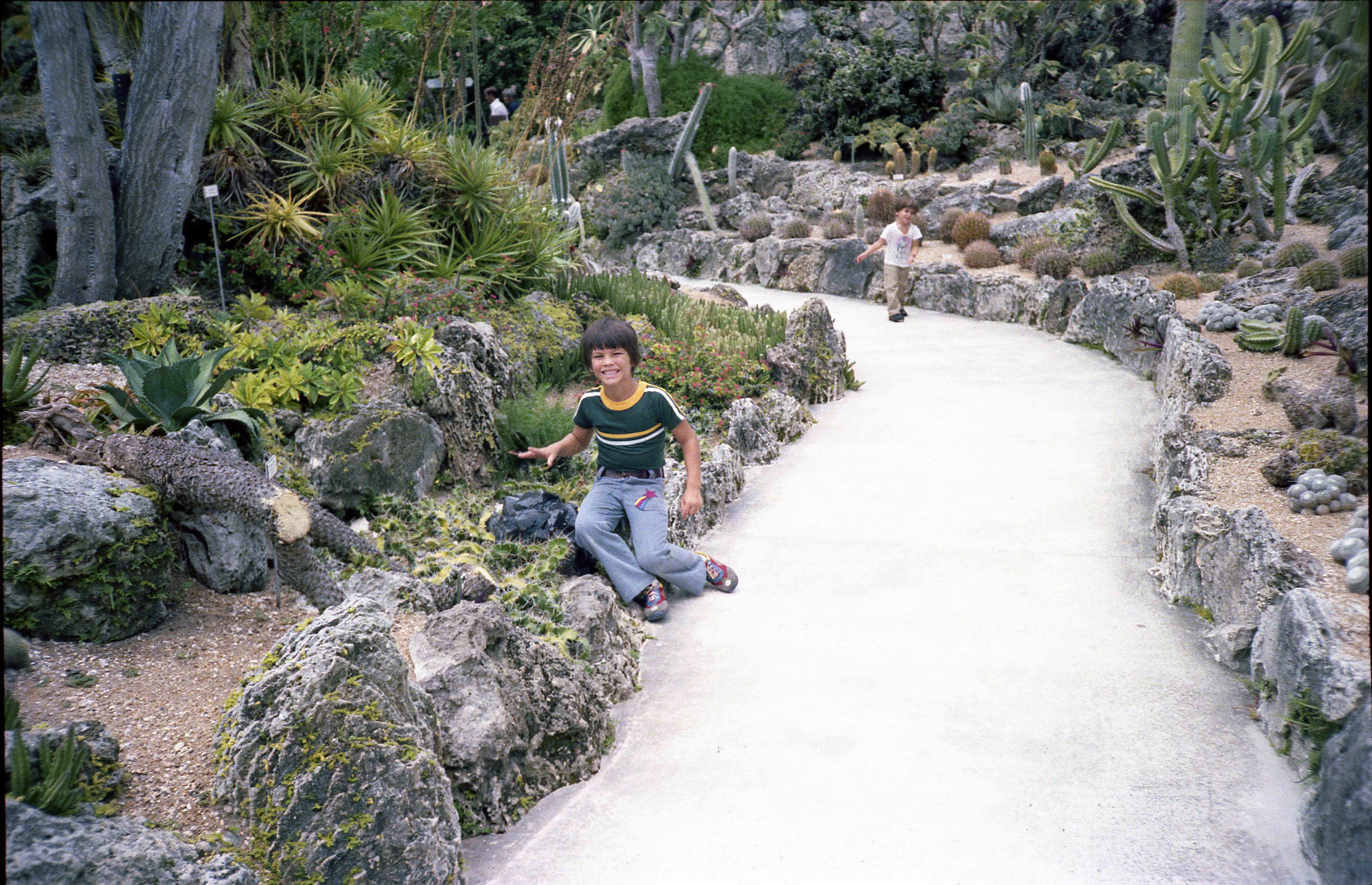 Chris Bobby on cactus garden pathwayjpg